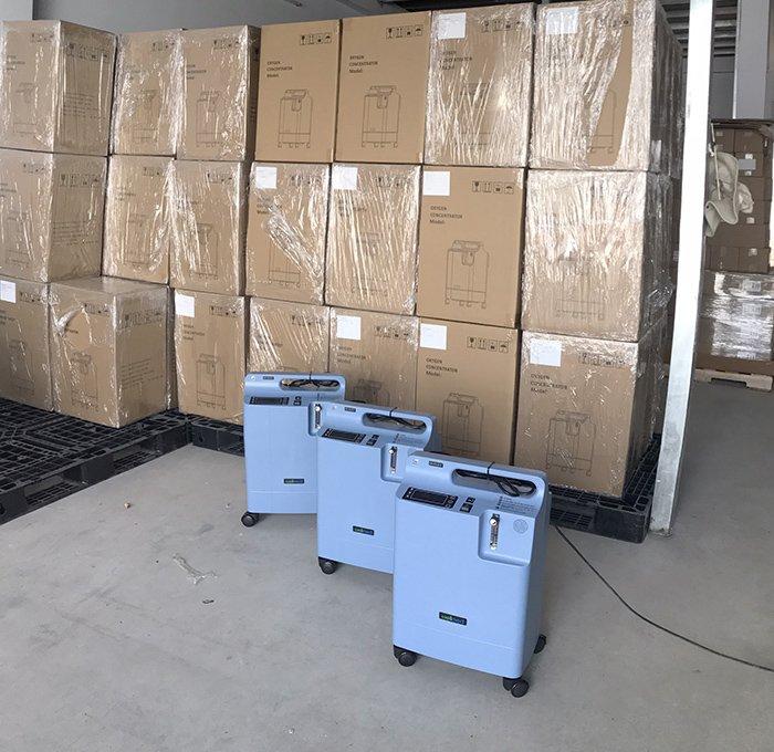Hùng Hy tiếp tục nhập kho hơn 70 máy tạo oxy Wellmed DO2-5EW 5 lít